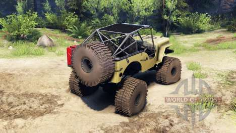 Jeep Willys tan pour Spin Tires