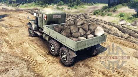 KrAZ-255 mit extended cab für Spin Tires