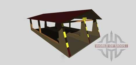 Silage Grube mit einem Baldachin v2.0 für Farming Simulator 2013