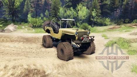 Jeep Willys tan für Spin Tires