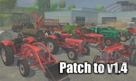 Patch auf version 1.4 für Farming Simulator 2013
