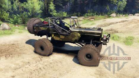 Jeep Willys camo pour Spin Tires
