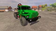 Ural-5557 Kran grün