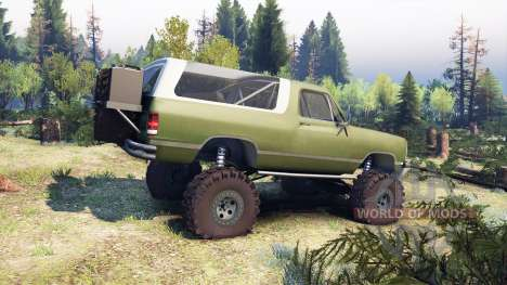 Dodge Ramcharger II 1991 green pour Spin Tires
