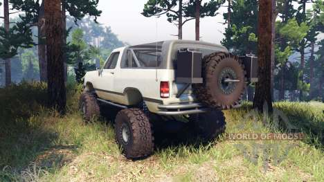 Dodge Ramcharger II 1991 beige pour Spin Tires