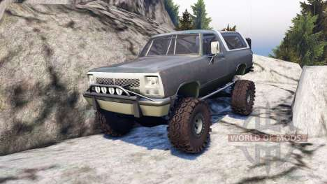 Dodge Ramcharger II 1991 grey and white für Spin Tires