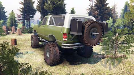 Dodge Ramcharger II 1991 green für Spin Tires