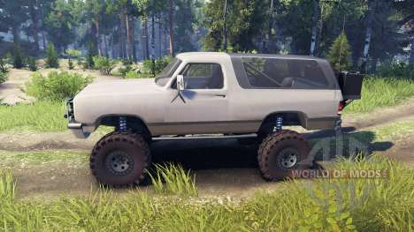 Dodge Ramcharger II 1991 tan pour Spin Tires