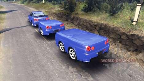 Nissan Skyline R34 GT-R NISMO Z-tune für Spin Tires