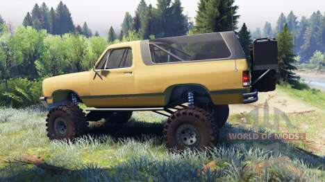 Dodge Ramcharger II 1991 dirty brown pour Spin Tires