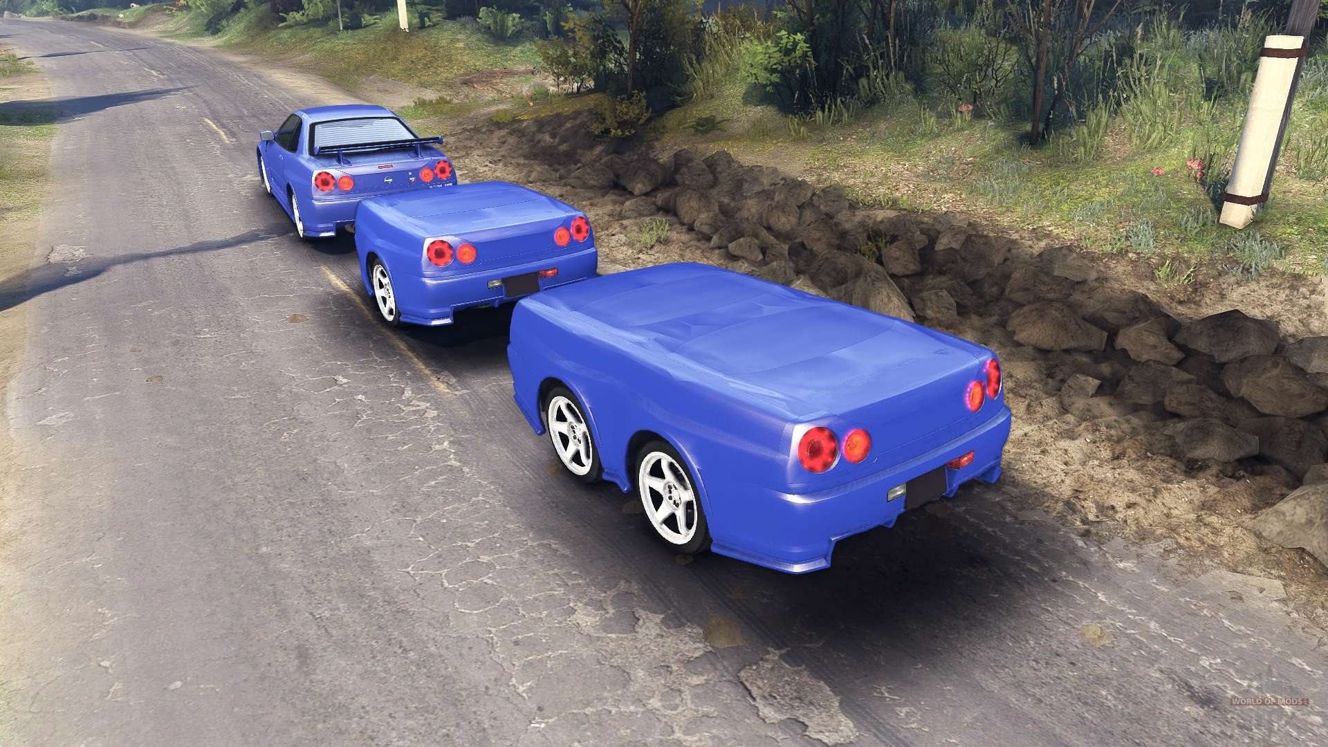 Nissan Skyline R34 Gt R Nismo Z Tune Pour Spin Tires