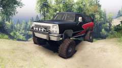 Dodge Ramcharger II 1991 red and black-clean