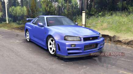 Nissan Skyline R34 GT-R NISMO Z-tune pour Spin Tires