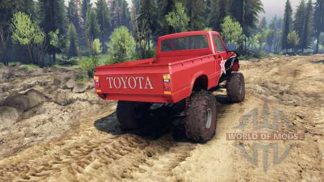 Toyota Hilux Truggy 1981 v1.1 rigid industries für Spin Tires