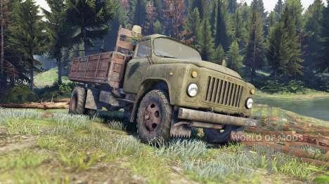 GAZ-53 grün für Spin Tires