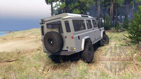 Land Rover Defender 110 silver pour Spin Tires