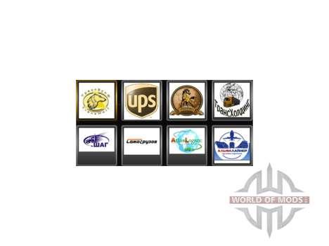 Des logos de la société pour le conducteur pour Euro Truck Simulator 2