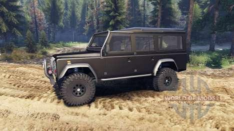 Land Rover Defender 110 black für Spin Tires
