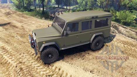 Land Rover Defender 110 flat green für Spin Tires