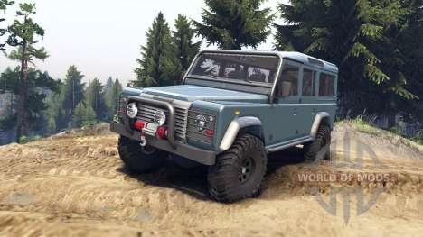 Land Rover Defender 110 blue metalic für Spin Tires