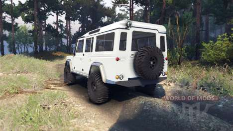 Land Rover Defender 110 white pour Spin Tires