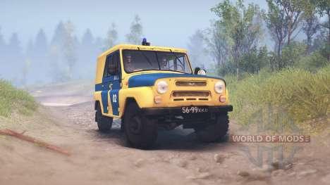 UAZ-B de la police de l'URSS pour Spin Tires