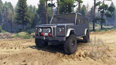 Land Rover Defender 110 dark blue gray für Spin Tires