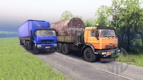 KamAZ et KAMAZ 44108-44118 pour Spin Tires