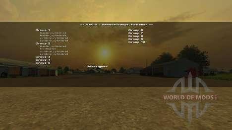 VehicleGroups Switcher v0.97 für Farming Simulator 2013
