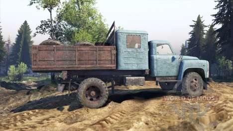 GAZ-53 blau für Spin Tires