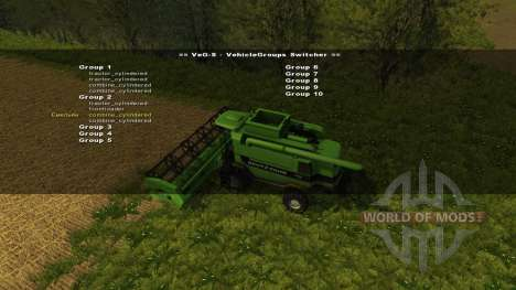 VehicleGroups Switcher v0.97 pour Farming Simulator 2013