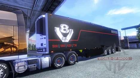 Couleur Schmitz Scania V8 pour semi-remorque pour Euro Truck Simulator 2