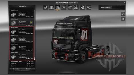 Pak-Motor für Renault Premium für Euro Truck Simulator 2