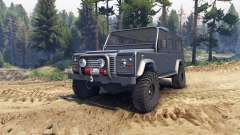 Land Rover Defender 110 dark blue gray