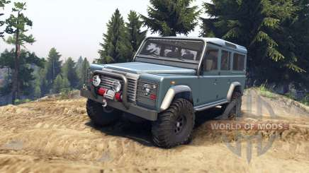 Land Rover Defender 110 blue metalic pour Spin Tires