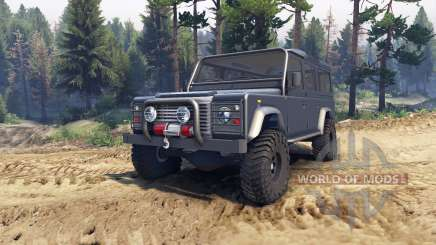 Land Rover Defender 110 dark blue gray pour Spin Tires