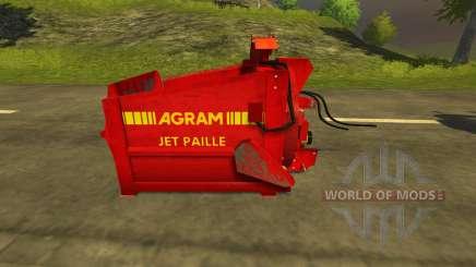 Pailleuse Agram Jet de paille pour Farming Simulator 2013