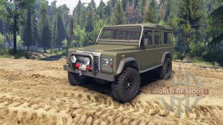 Land Rover Defender 110 flat green pour Spin Tires
