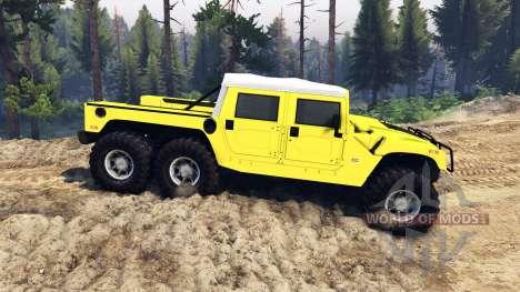 Hummer H1 6x6 Raptor pour Spin Tires