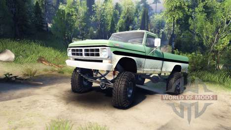 Ford F-200 1968 green and white pour Spin Tires