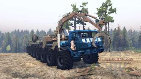 KrAZ 7E 6316 Trans-Sibirien-v1.1 für Spin Tires