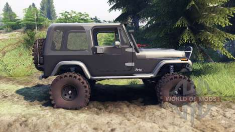 Jeep YJ 1987 gray pour Spin Tires