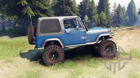 Jeep YJ 1987 blue für Spin Tires