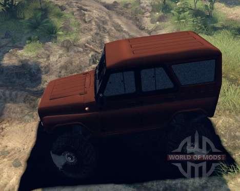 UAZ hunter für Spin Tires