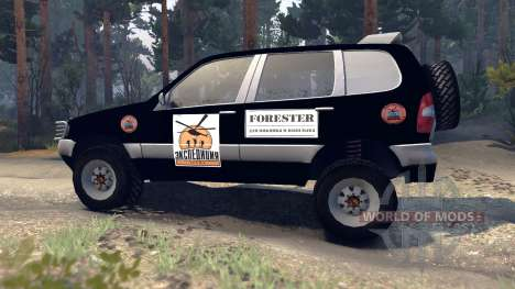 ВАЗ-21236 Chevrolet Niva black pour Spin Tires