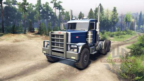 Peterbilt 379 dark blue pour Spin Tires