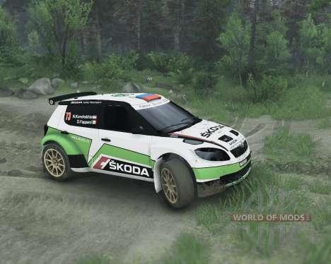 Skoda Fabia S2000 pour Spin Tires