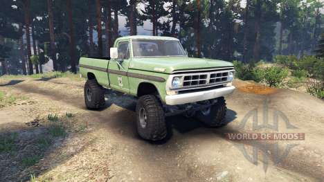 Ford F-200 1968 forest ranger pour Spin Tires