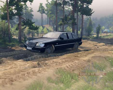 Mercedes W140 pour Spin Tires