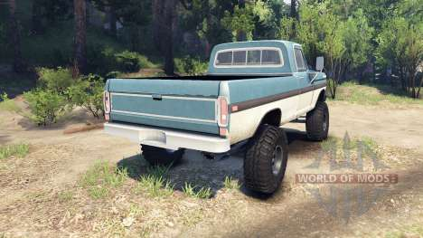 Ford F-200 1968 blue and white für Spin Tires